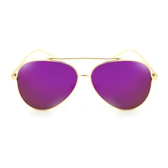 Maldives 2253-Y Cavalli Aviator Flat Lens Sunglasses (Violet/Gold)
