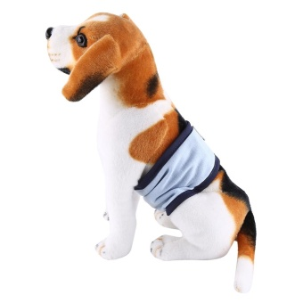 Male Dog Belly Wrap Toilet Training Diaper Pet Sanitary Pants (BlueXS) - intl