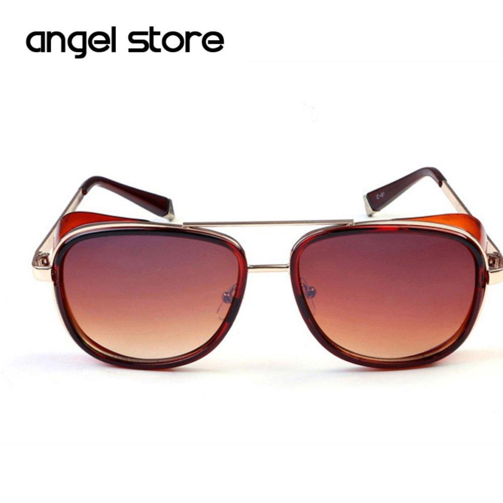 9afbe1ed30fb5 Male Steampunk Sunglasses Tony Stark Iron Man Matsuda SunglassesRetro  Vintage Eyewear Steampunk Sun Glasses UV400 Oculos ...