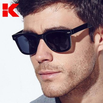 Men Polarized Sunglasses Classic Men Retro Rivet Shades Brand Designer Sun glasses UV400 - intl