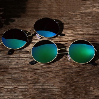 Men Women Retro Vintage Round Mirrored Sunglasses Eyewear Outdoor Sports - intl - 2