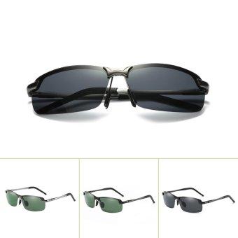 Men's Polarized 100%UV400 HD Night Vision Driving Glasses Aviator Sunglasses - intl - 4