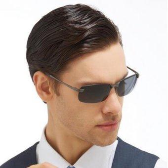 Men's Polarized 100%UV400 HD Night Vision Driving Glasses Aviator Sunglasses - intl - 2