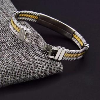 Men's Bracelet 3Rows Wire Chain Bracelets Bangles Fashion PunkStainless Steel Cross Bracelet Men Christian Men Jewelry - 4