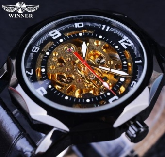 Mens Steel Waterproof 100m Tritium Luminous Dual Calendar Business Automatic Mechanical Wrist Watch - intl
