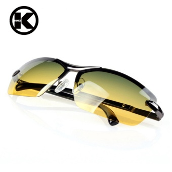 Mens Sunglasses Day and Night Driving Sun Glasses for Men Metal Frame Rimless Polarized Brand Vintage Vision Goggles Male Oculos - Intl