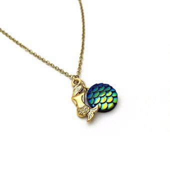 Mermaid Necklace, Charm Necklace - 2