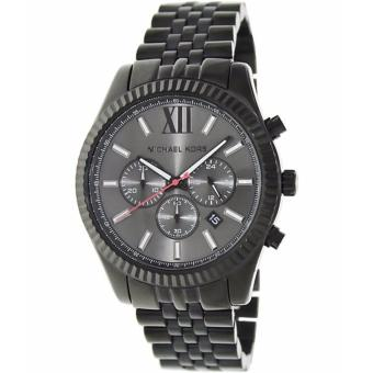 Michael Kors All Black Large Lexington Chronograph Bracelet Unisex Watch-MK8320