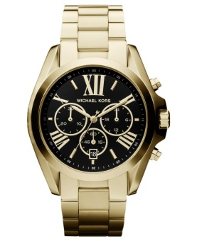 Michael Kors Bradshaw Black Dial Gold-tone Stainless Steel Chronograph Watch MK5739