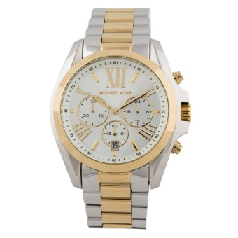 Michael Kors Bradshaw Chronograph Unisex Two-Tone Stainless Steel Strap Watch MK5627