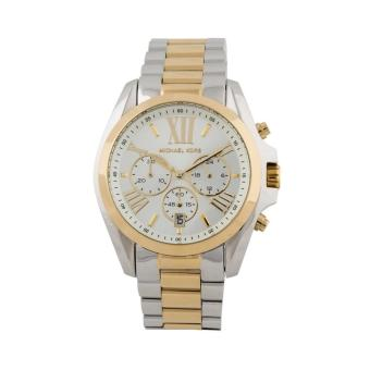 Michael Kors Bradshaw Chronograph Unisex Two-Tone Stainless SteelStrap Watch MK5627