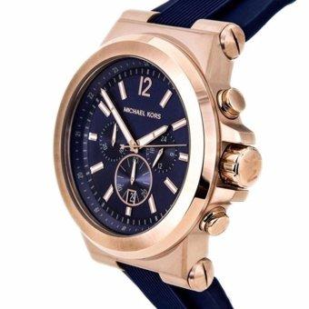 Michael Kors Dylan Navy Dial Rose Gold-tone Navy Silicone StrapMen's Watch MK8295 - 3