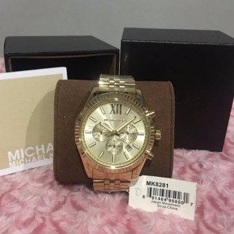 MICHAEL KORS Lexington Chronograph Champagne Dial Men's Watch MK8281