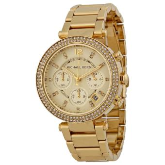 MICHAEL KORS Parker Ladies Gold-tone Stainless Steel Strap Watch