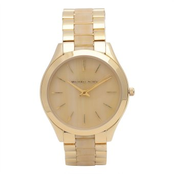 Michael Kors Slim Runaway Women's Gold Acetate Strap Watch MK4285