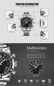 Military Watch Men 's Smart Waterproof Watch Special Luminous- Black - intl - 5
