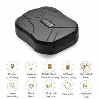 Mini Powerful Magnet GSM/GPRS Tracking System, Car Waterproof Tracker GPS TK905 - intl