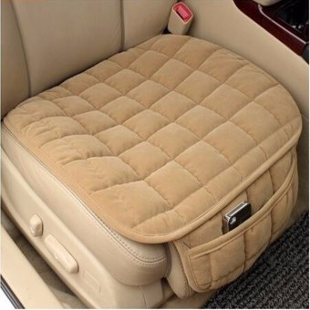 Monolithic Single Front Row Car Seat Cushion Autumn and winter new Common Beige