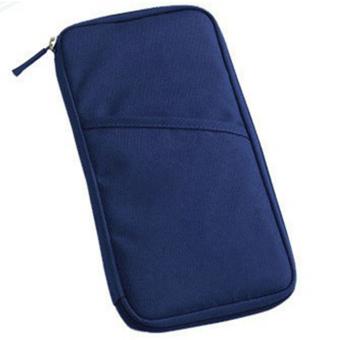Moonar Travel Credit ID Card Holder Cash Wallet Bag Purse Drak Blue