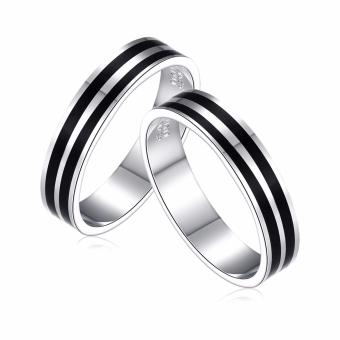 Morning Star MS020 92.5% Silver Couple Ring