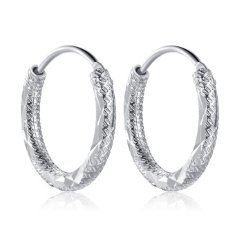 Morning Star MS730 92.5 Silver Hoop Earrings 10MM