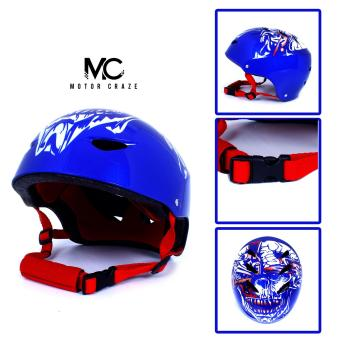 Motor Craze HNJ Blue Monster Half Face Crash Safety PassengerHelmet Price Philippines