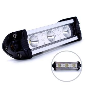 Motor Craze Universal Motorcycle 3 LED Light (Silver)