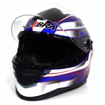 Motor Craze ZEBRA FF801 #24 Fullface Motorcycle Helmet (Navy Blue) - 3