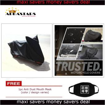 Motorcycle Cover Thick Durable High Quality Waterproof Dustprooffor Suzuki Raider J115 F1 (Black Premium Edition (Mags)