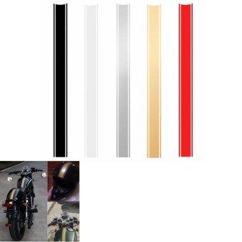 Motorcycle DIY Tank Fairing Cowl Vinyl Stripe Pinstripe Decal Sticker For Cafe Racer (Gold) - intl - 5