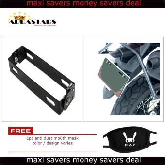 Motorcycle License Plate Number Holder Universal Adjustable BracketBlack Frame for for Yamaha Sniper 150 MXi