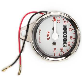 Motorcycle Mini Electronic Speedometer with Odometer Night Light