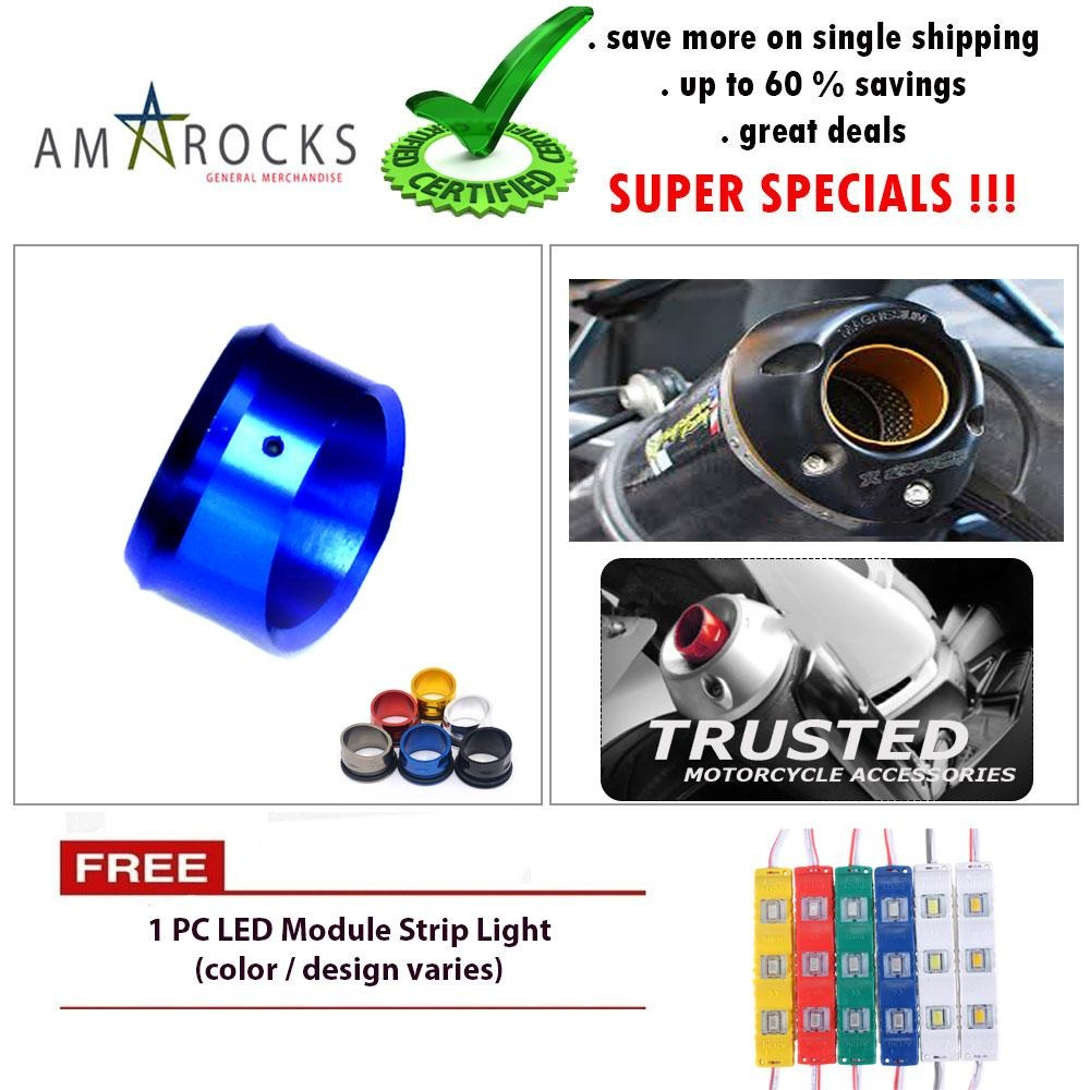 Philippines | Motorcycle Muffler Exhaust Tip Cover Blue for