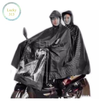 Motorcycle Raincoat Moto Rain Double Person (Black) Price Philippines