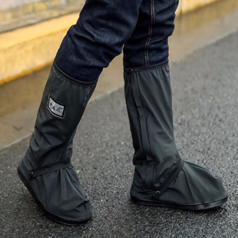 Motorcycle Waterproof Rain Shoes Covers Thicker Scootor Non-slipBoots Covers Adjusting Tightness Riding Rain Protect - intl Price Philippines