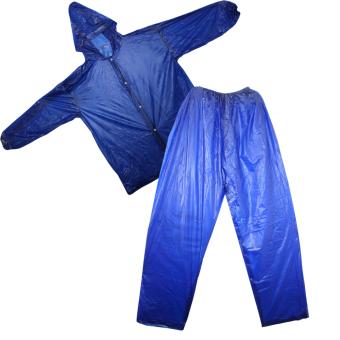 MotorcycleRaincoat Jacket & Pants Unisex (Blue)