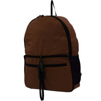 MSV Lightweight Folding Bag Casual Daily Backpack ZD-12 (Brown)