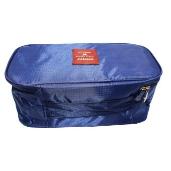 Multifunction Travel Underwear Pouch (Navy Blue)