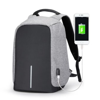 Multifunctional Anti-theft Business 15.6 Inch Laptop Backpack with External USB Charging Port School Bags for Teenagers - intl