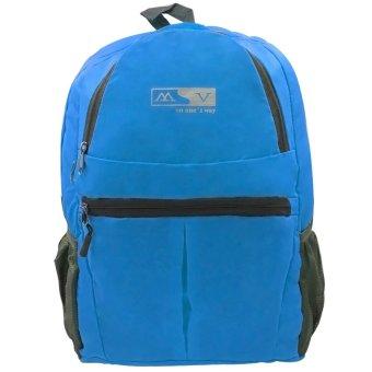 MV Unisex Travel Foldable Backpack (Blue)