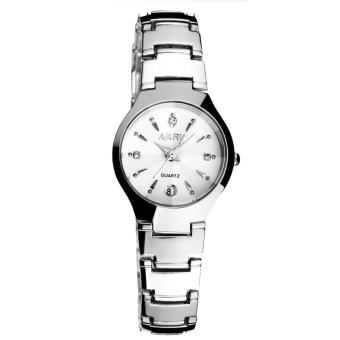 NARY 6112 Fashion Women Silver Stainless Steel Quartz Watch