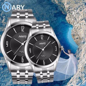 NARY 6125 Lovers'classical Steel-belt Quartz Couple Watch