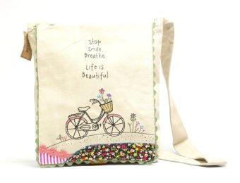 Natural Life Prairie Stitch Messenger Bag (Bicycle)