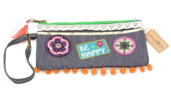 Natural Life WLT117 Patch Simple Wristlet (Blue)