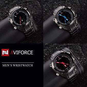 Naviforce 9050 Black Stainless Steel Men's Fashion Casual Japan Movementt Watch - 3