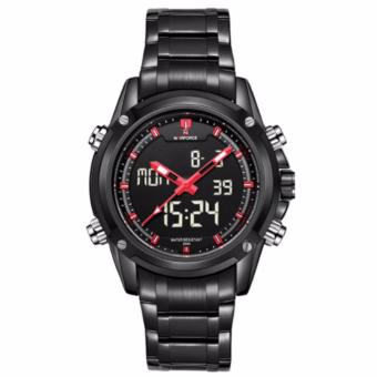 Naviforce 9050 Black Stainless Steel Men's Fashion Casual Japan Movementt Watch - 2