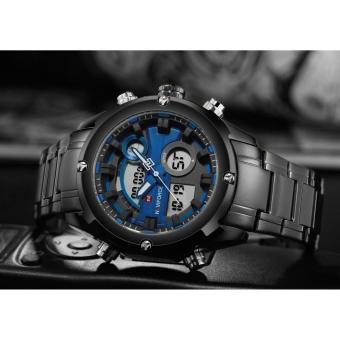 Naviforce Stainless Steel Strap Men's Watch NF9088 (Black/Black/Blue) - 2