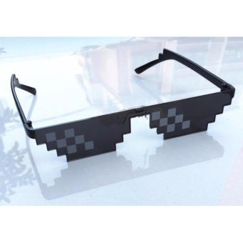 New Deal With It Sunglasses Men Minecraft Polygonal LOL Thug LifeShades Masculine 8 Bits Style Pixel