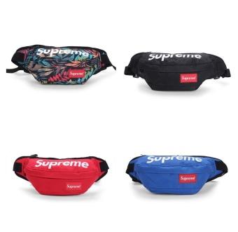 New Fashion Supreme Men and Women Waist Packs Unisex Sport Casual Bag Nylon Crossbody Bag Belt - intl - 3