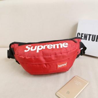 New Fashion Supreme Men and Women Waist Packs Unisex Sport Casual Bag Nylon Crossbody Bag Belt - intl - 2